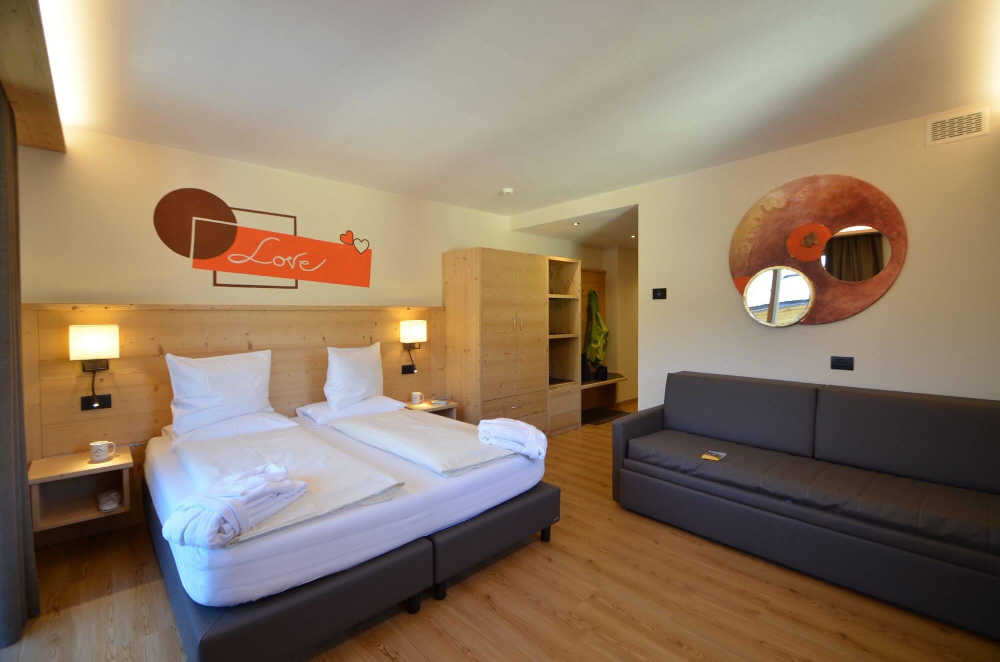 Visuale d'insieme: Junior Suite dell'Hotel Le Alpi