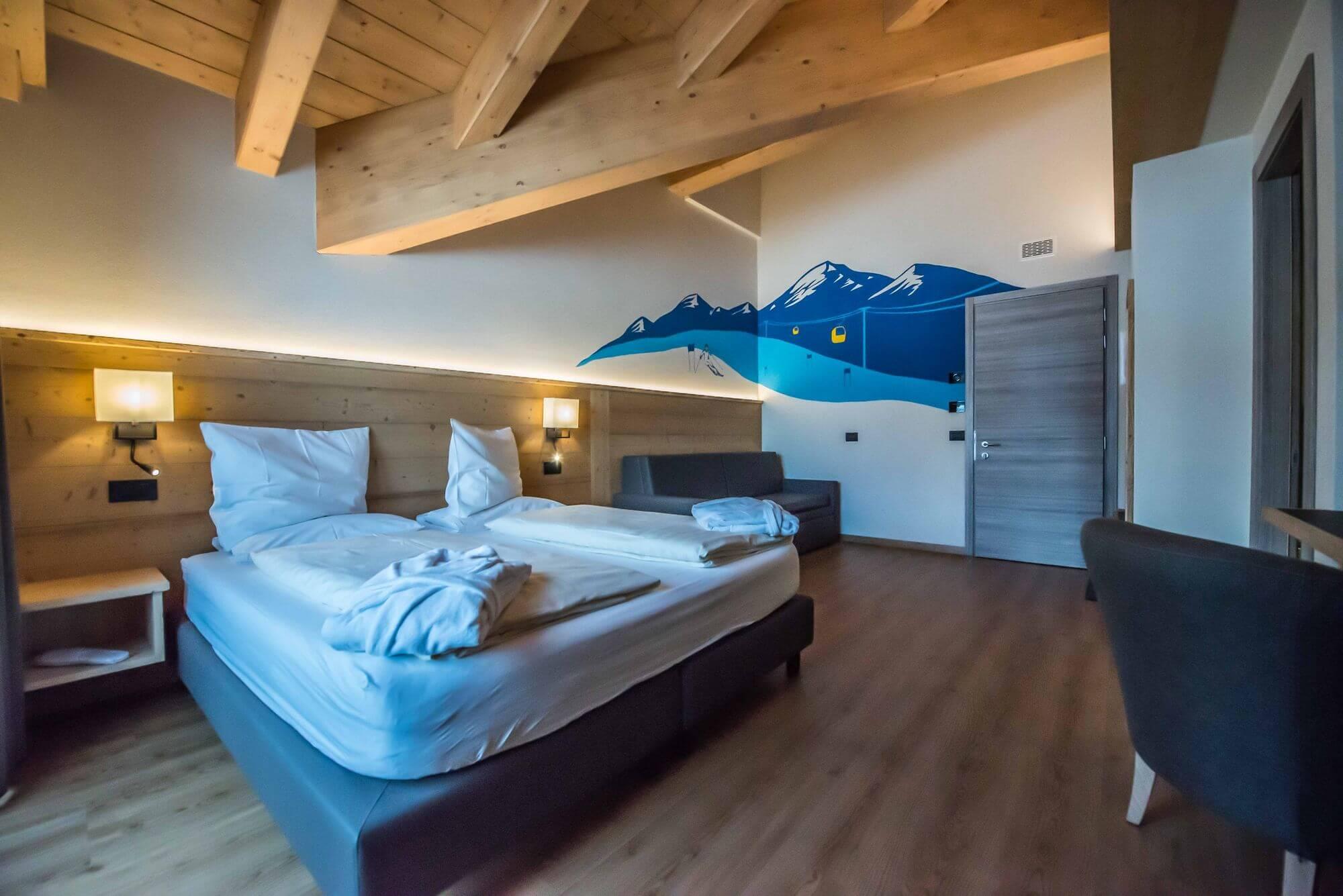 Decorazioni a tema alpino: Hotel Le Alpi a Livigno