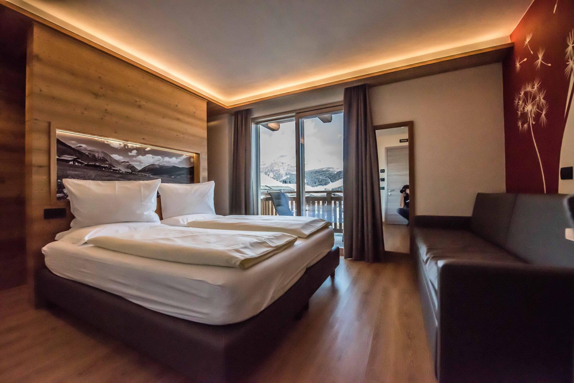 Camera Comfort con arredamento di design: Hotel Le Alpi