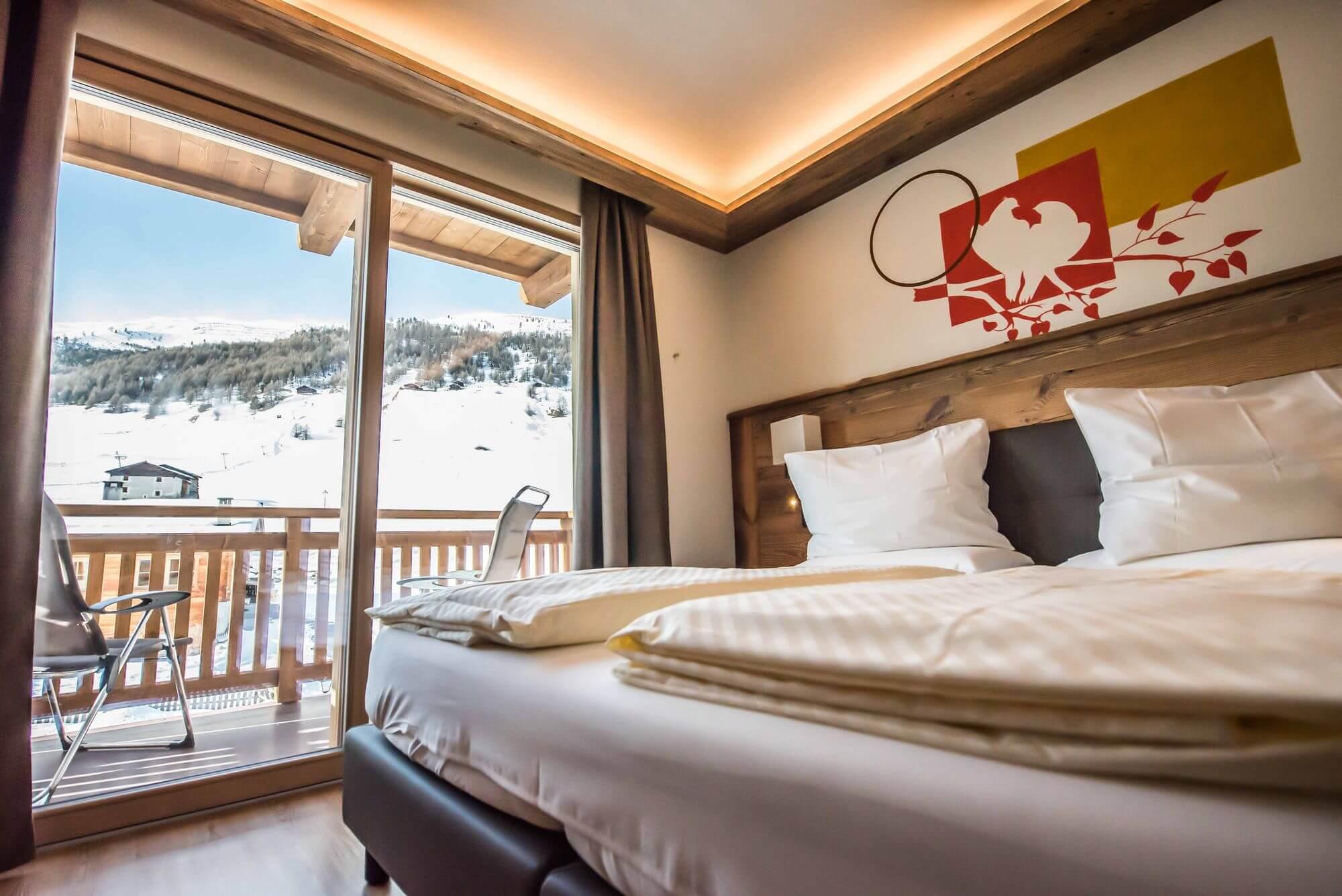 Camera luminosa vicino alle piste: Hotel Le Alpi a Livigno