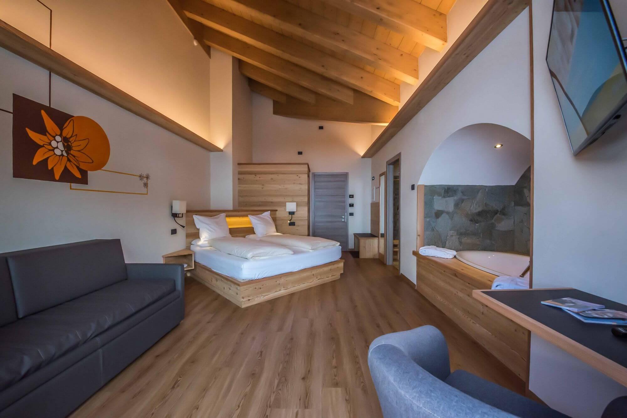 Vista d'insieme della Suite: Hotel Le Alpi a Livigno