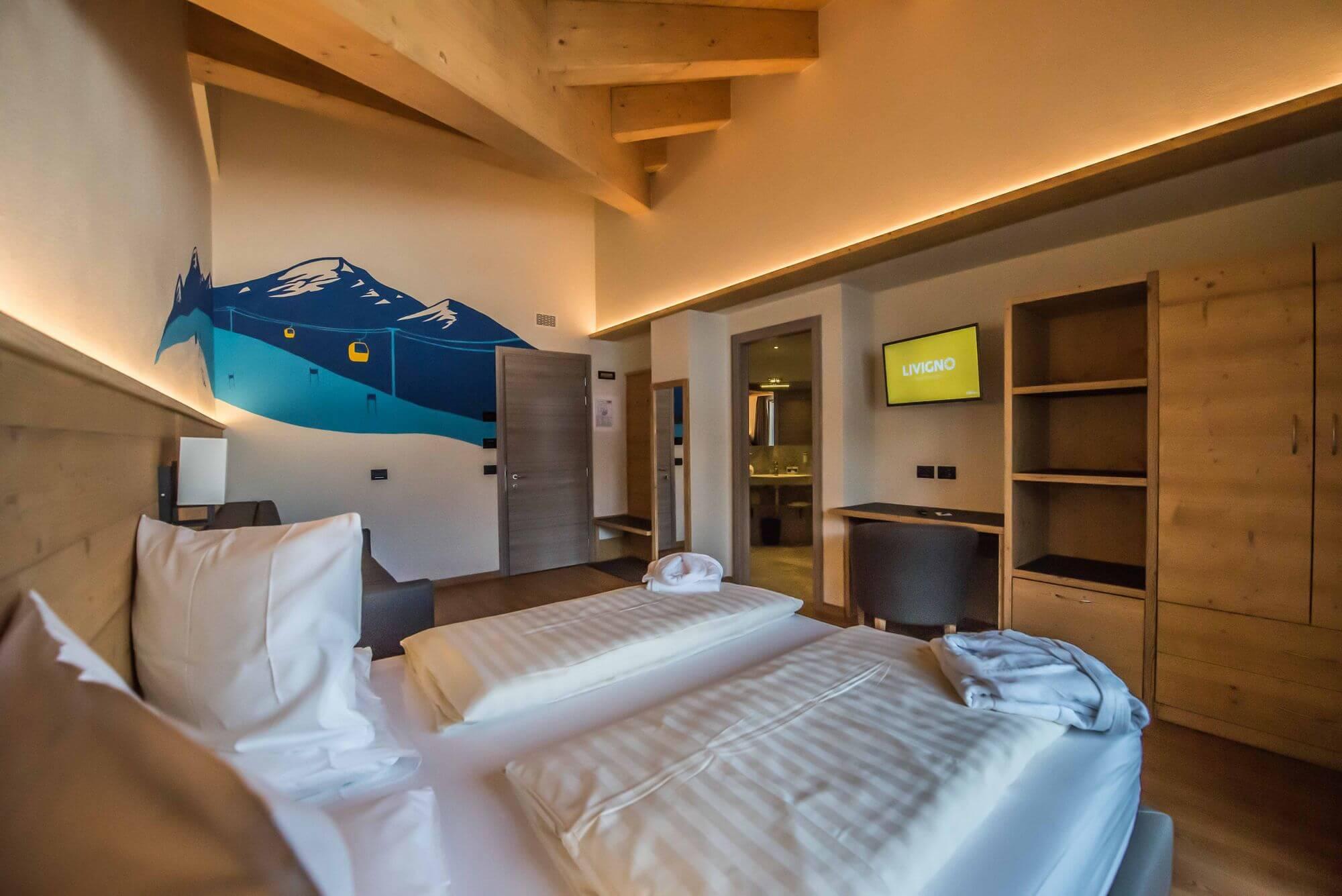 Junior Suite con arredamento in legno: Hotel Le Alpi a Livigno