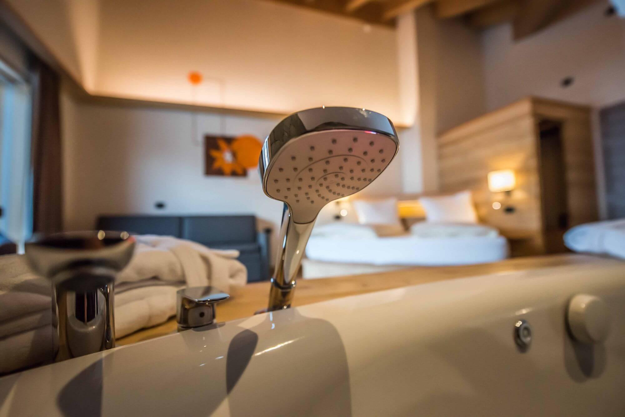 Dettaglio vasca idromassaggio: Hotel Le Alpi a Livigno