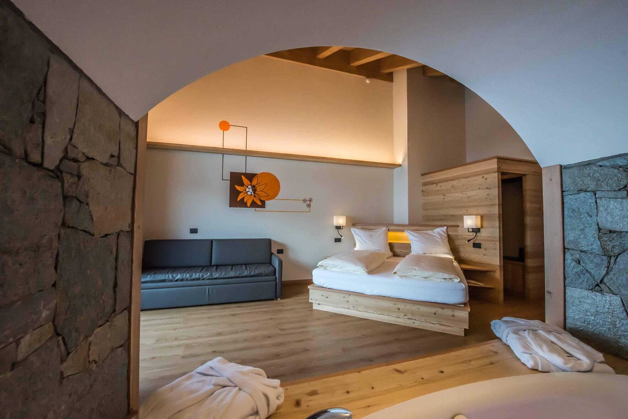 Vasca idromassaggio con pietre naturali: Hotel Le Alpi a Livigno