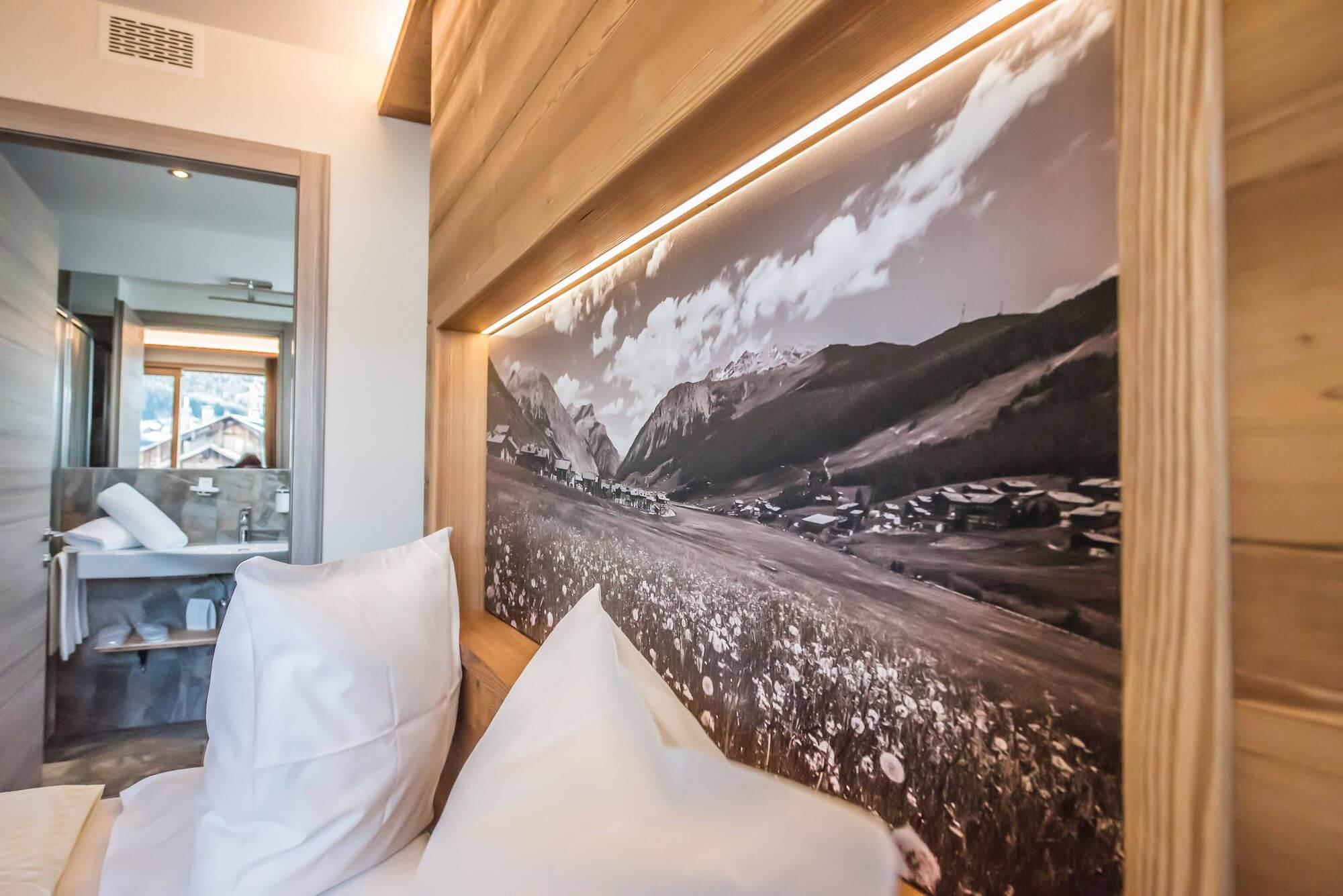Paesaggio alpino: Camera Comfort, Hotel Le Alpi a Livigno