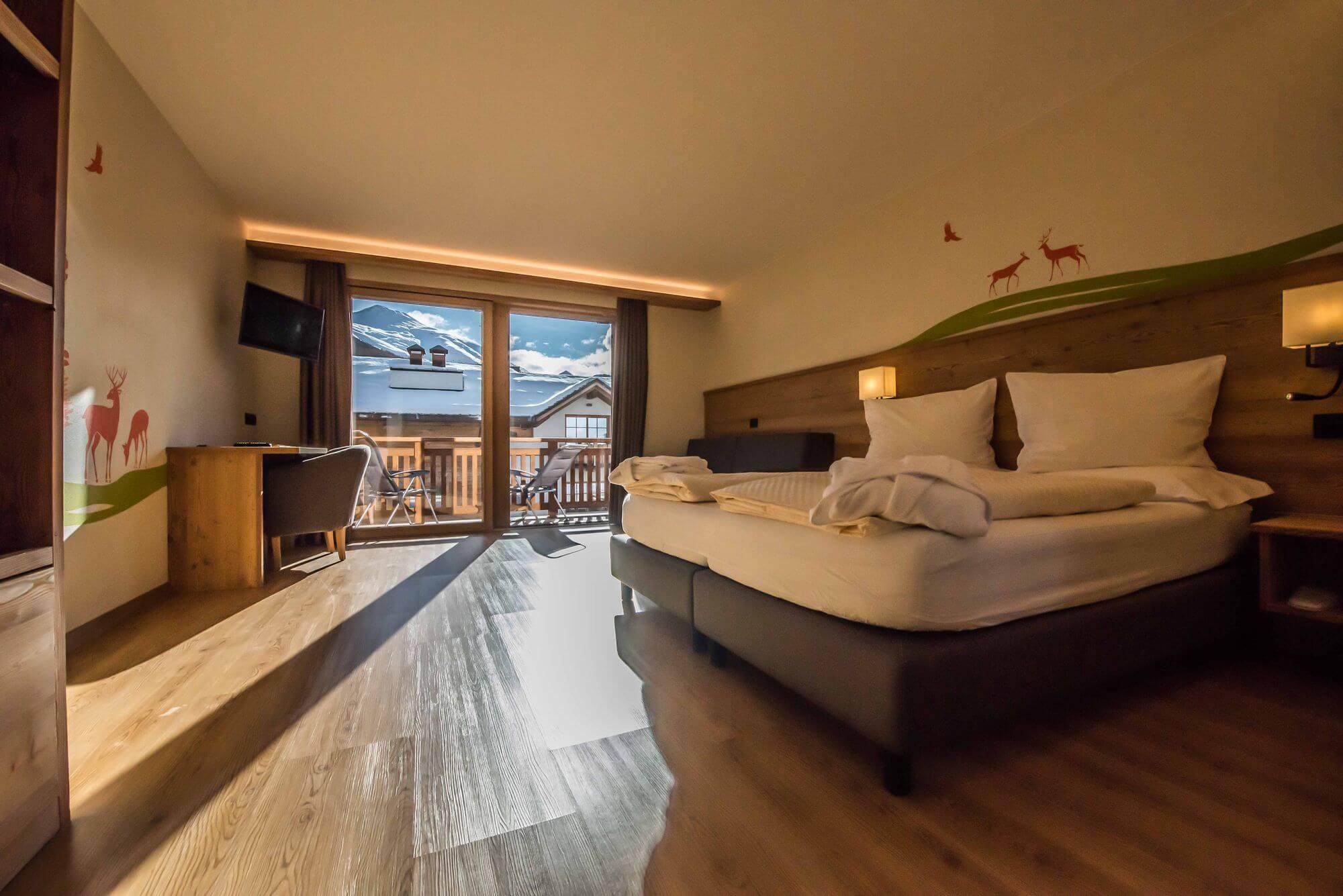 Suite accogliente con terrazzo: Hotel Le Alpi a Livigno