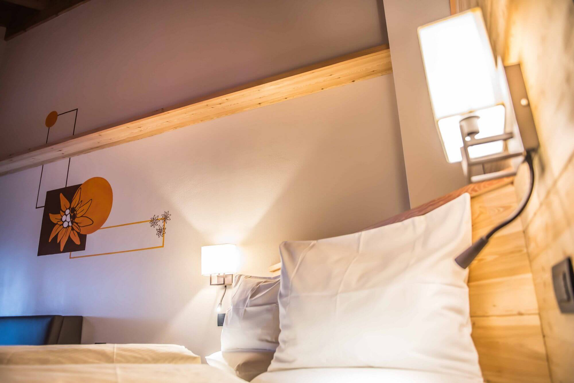 Letto in legno: Hotel Le Alpi a Livigno