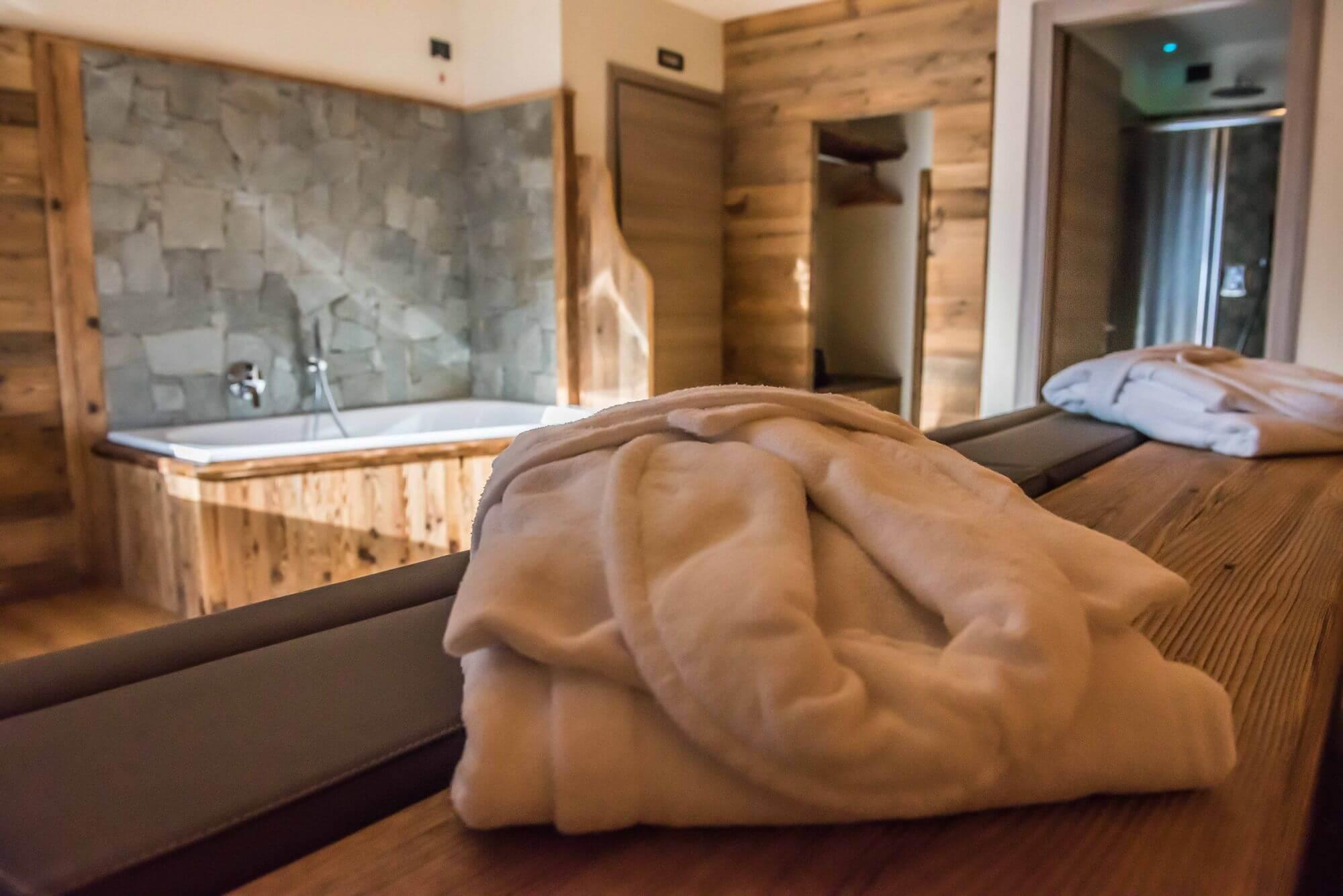 Accappatoi e area relax: Suite a Livigno