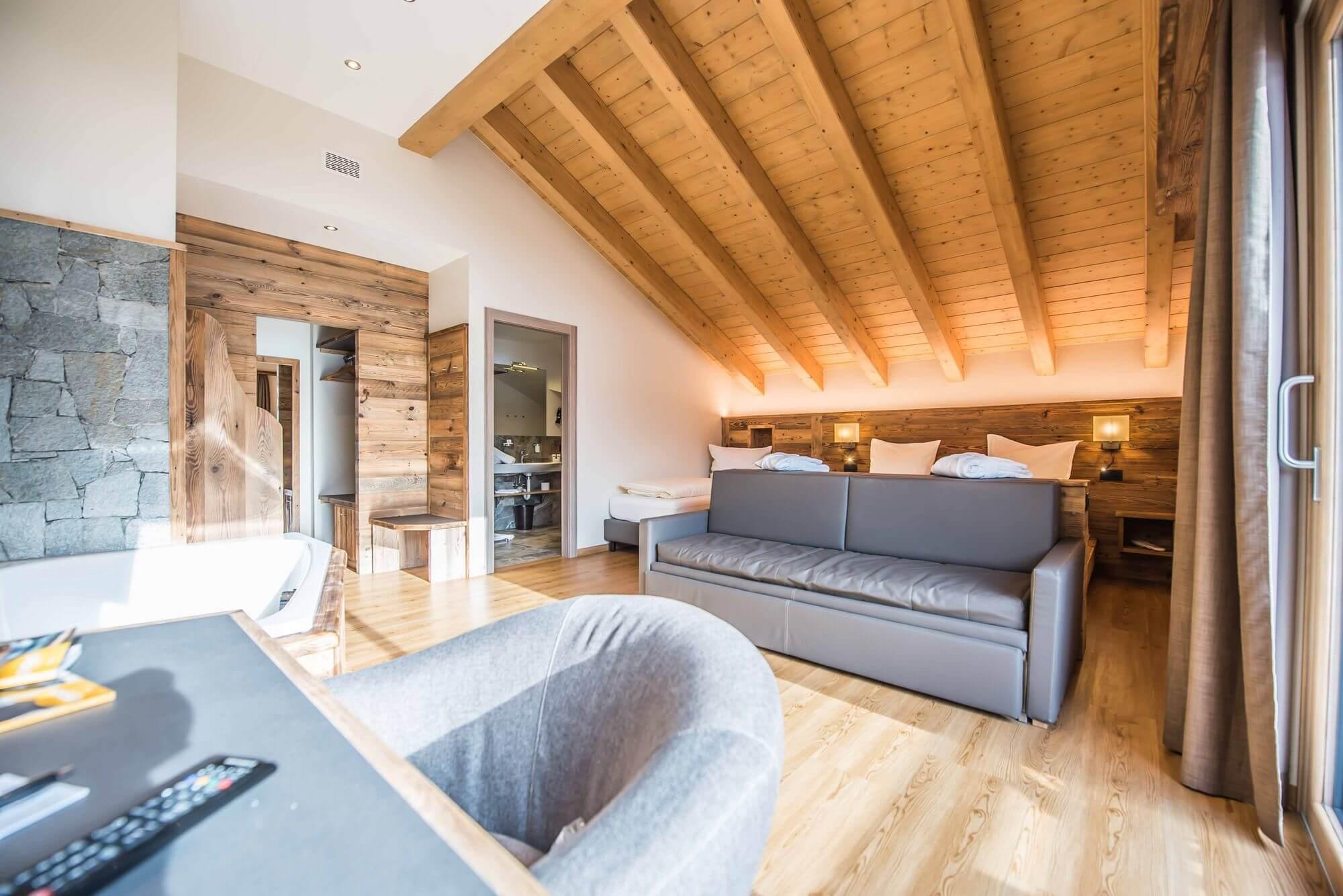 Suite con tetto in legno: Hotel Le Alpi a Livigno
