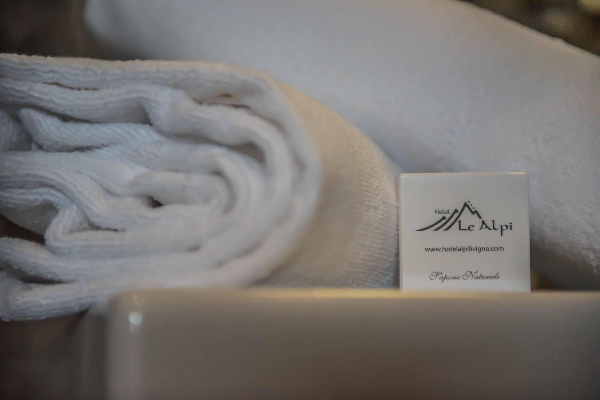 Dettaglio asciugamani: Suite Hotel Le Alpi a Livigno