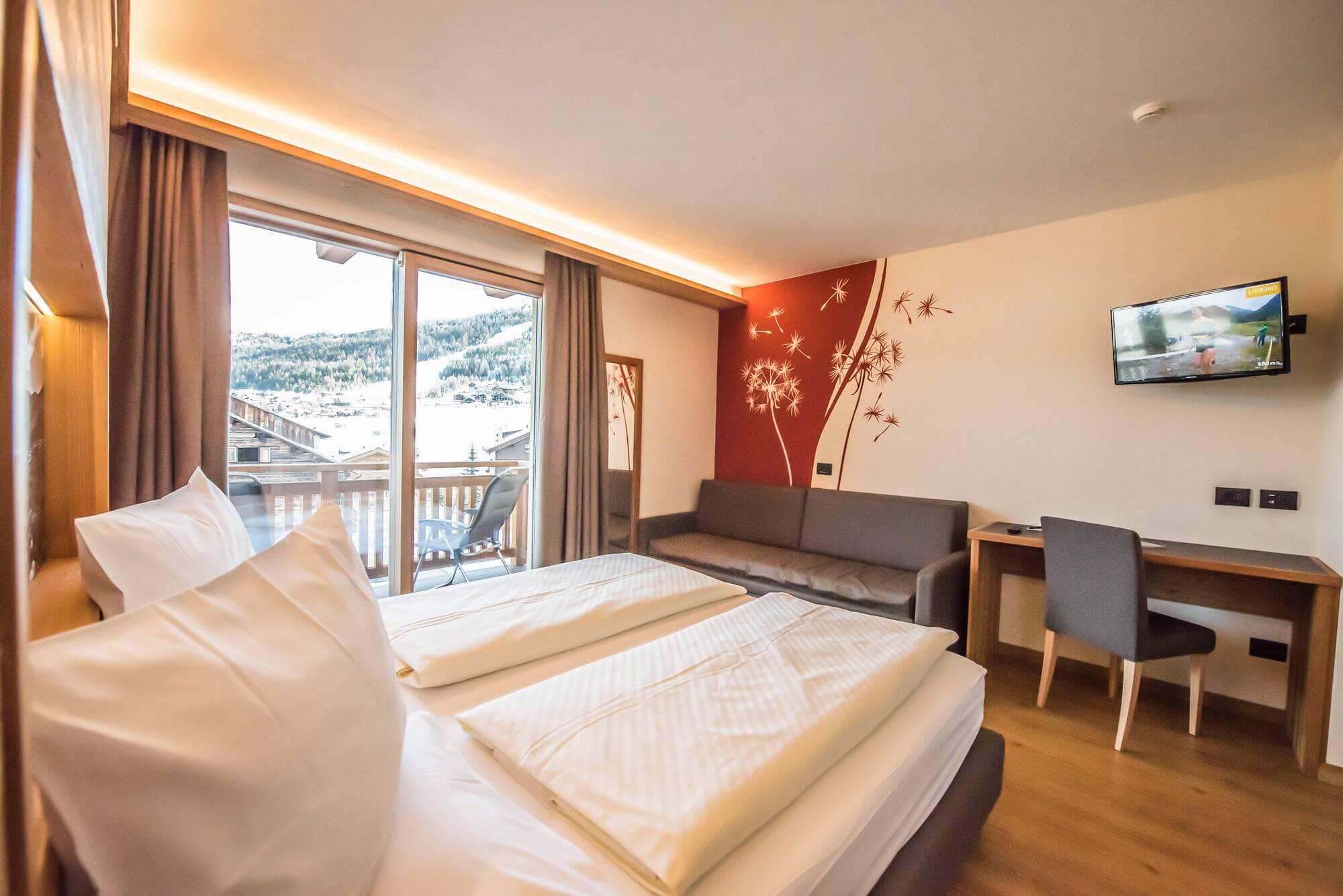 Comodo letto matrimoniale: Hotel Le Alpi a Livigno