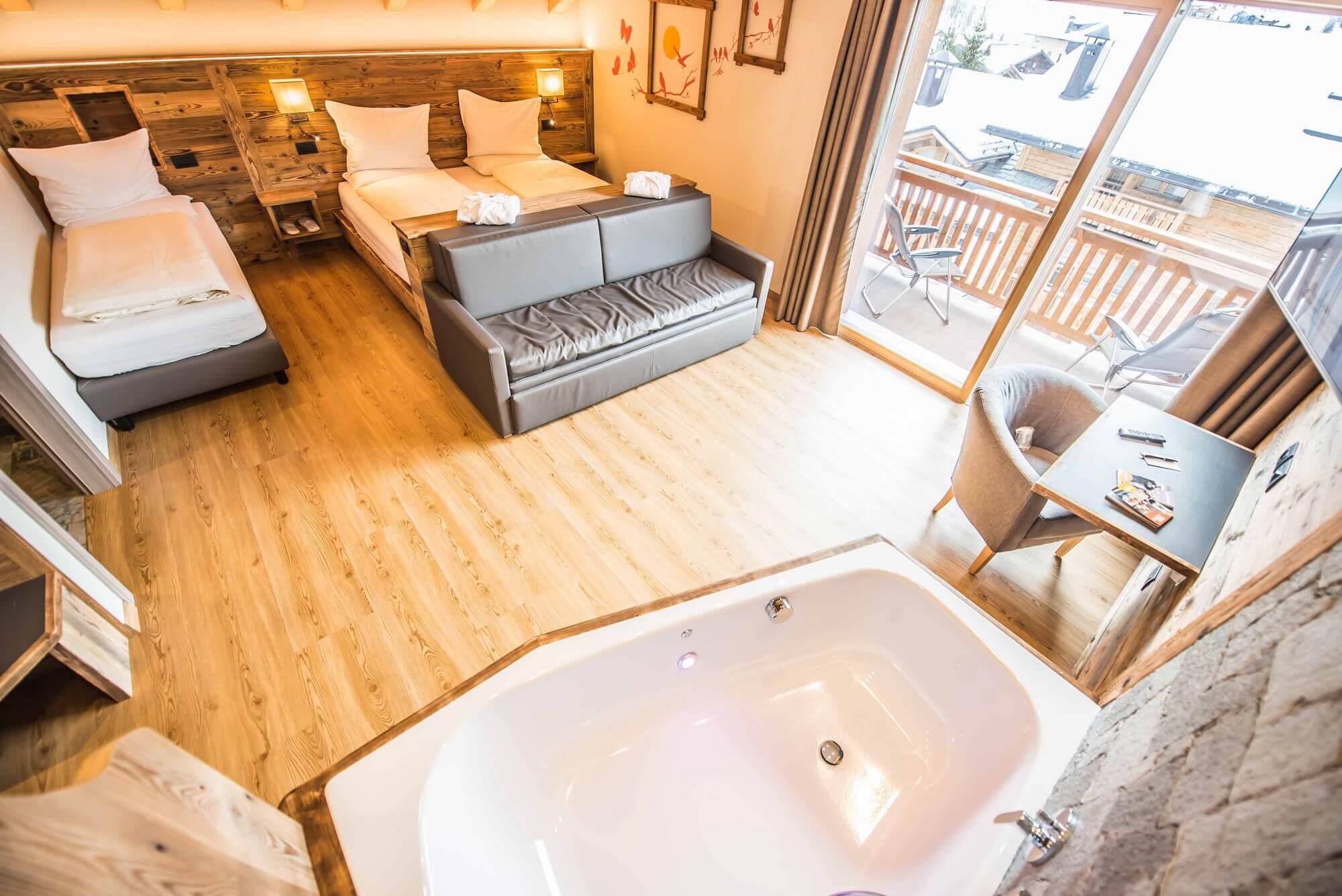 Suite con terrazzo e idromassaggio: Hotel Le Alpi a Livigno