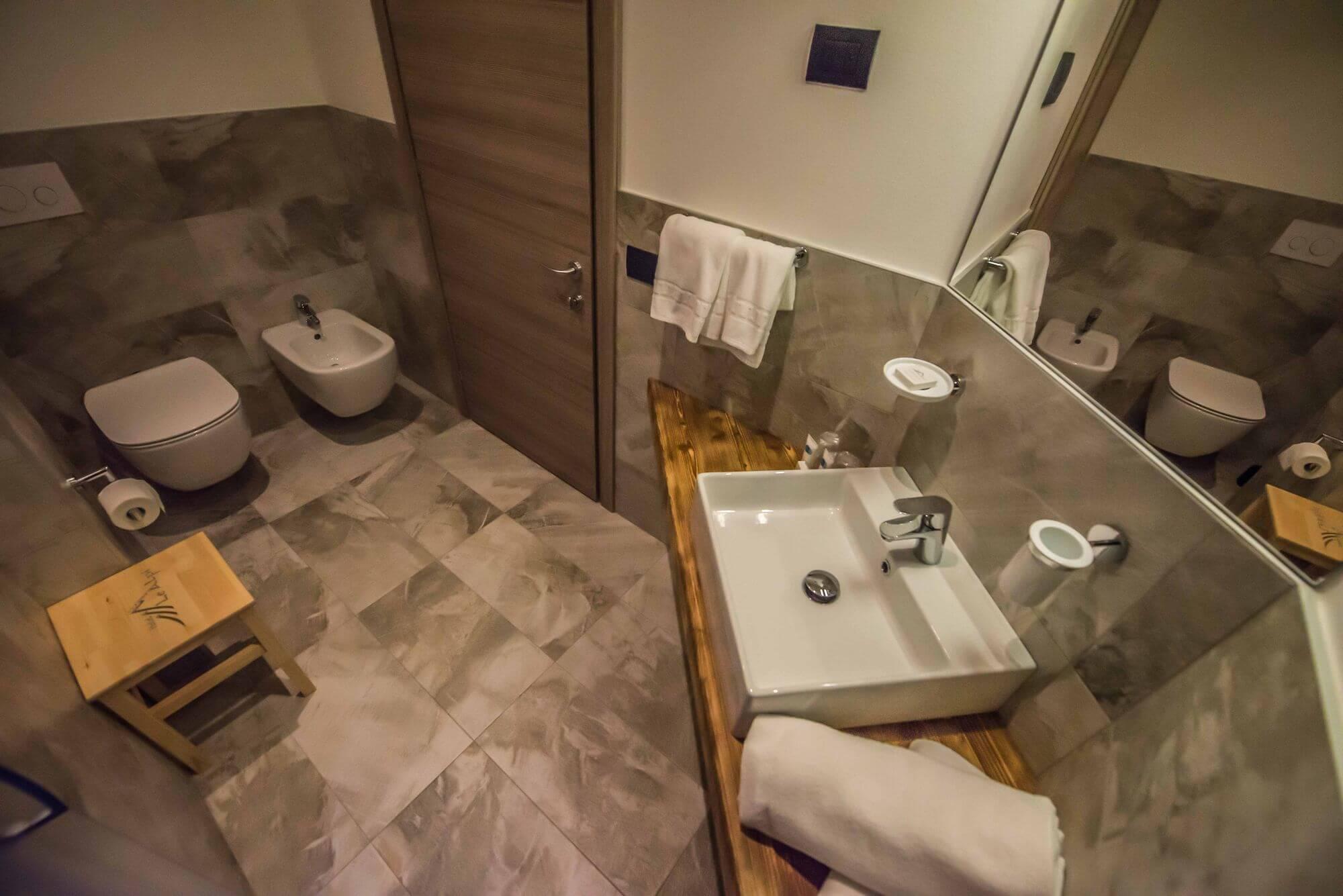 Visuale dall'alto del bagno: Camera Superior