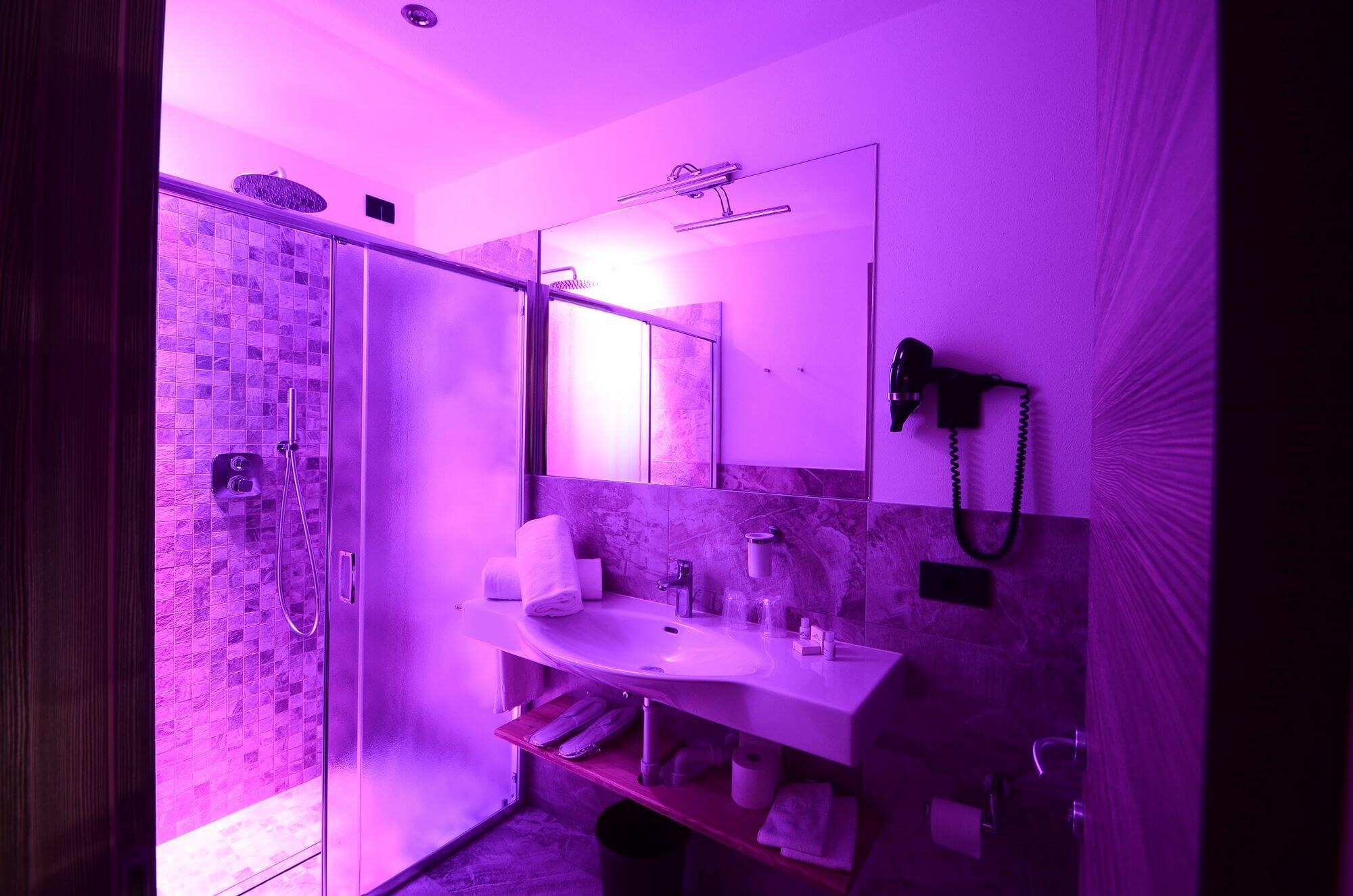 Atmosfera rilassante: bagno della Camera Classic
